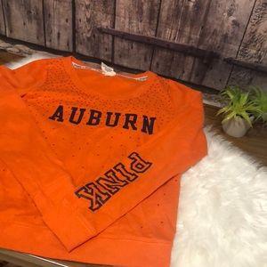 PINK VS LG Auburn orange sweatshirt jeweled